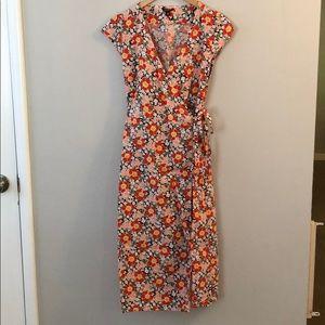 J Crew floral wrap dress